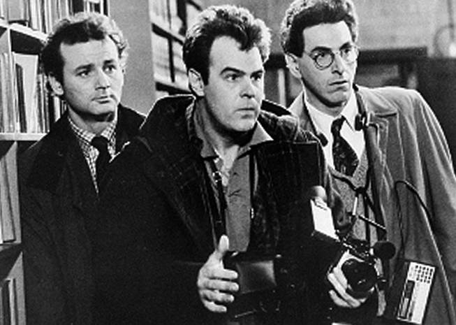 "In an undated file photo, Bill Murray, Dan Aykroyd, center, and Harold Ramis, right, appear in a scene from the 1984 movie ""Ghostbusters"". Harold Ramis died early Monday, Feb. 24, 2014, in Chicago from complications of autoimmune inflammatory disease, according Fred Toczek , an attorney for Ramis. He was 69."