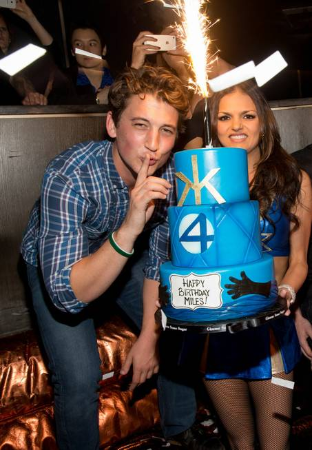 Miles Teller celebrates his 27th birthday at Hakkasan on Saturday, ...