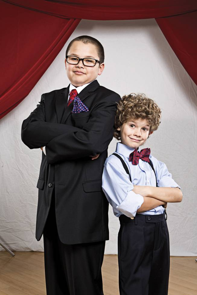 Its saw or be sawed for 11-year-old Donovan and 7-year-old Dennis as they convey the impish charm of longtime Las Vegas headliners Penn & Teller.