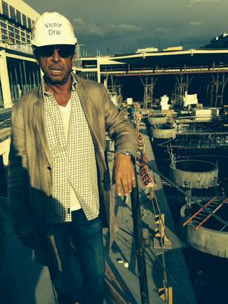 Victor Drai gives a tour of his dayclub and nightclub under construction Wednesday, Feb. 26, 2014, at the Cromwell.