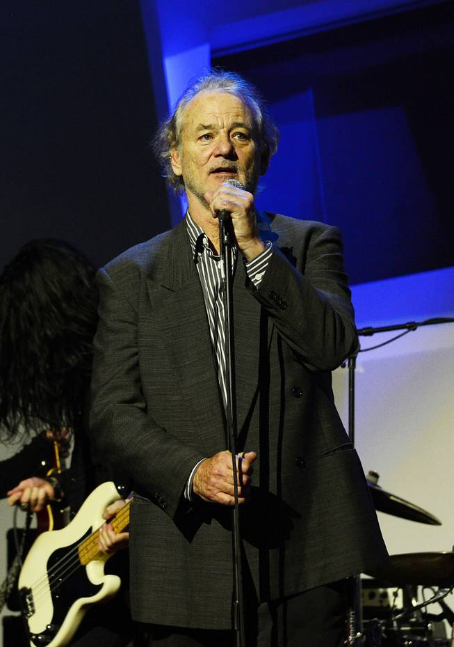 "Bill Murray hosts the Kerry Simon ""Simon Says Fight MSA"" benefit concert at the Keep Memory Alive Center in Las Vegas on Feb. 27, 2014."