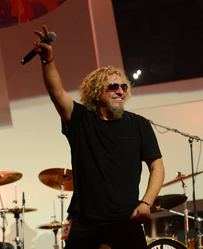 "Sammy Hagar performs during the Kerry Simon ""Simon Says Fight MSA"" benefit concert at The Keep Memory Alive Center in Las Vegas on Feb. 27, 2014."