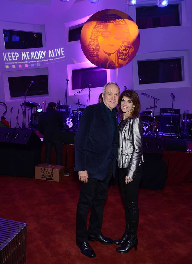 "Larry Ruvo and Camille Ruvo during the Kerry Simon ""Simon Says Fight MSA"" benefit concert at The Keep Memory Alive Center in Las Vegas on Feb. 27, 2014."