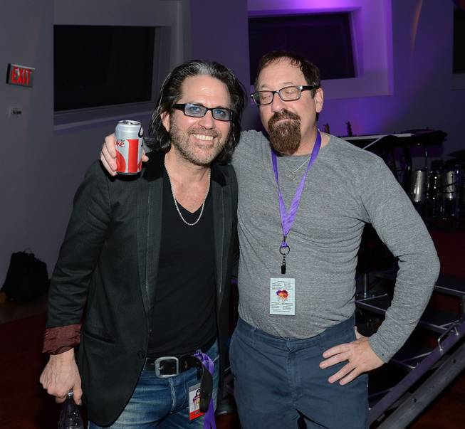 "Kip Winger and Lonn Friend attend the Kerry Simon ""Simon Says Fight MSA"" benefit concert at The Keep Memory Alive Center in Las Vegas on Feb. 27, 2014."