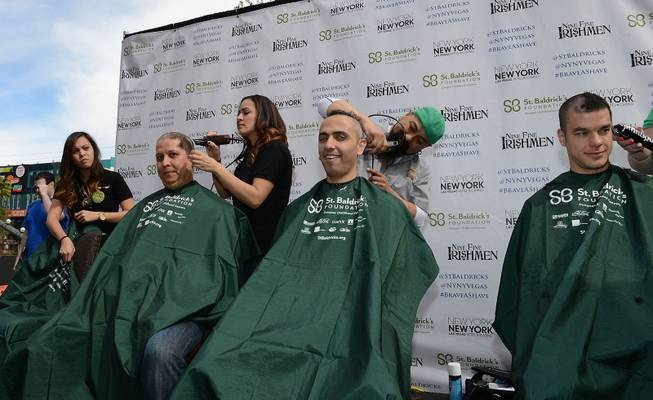 A general view during St. Baldrick's Day celebration and fundraiser for childhood cancer research at New York - New York Hotel & Casino  on March 1, 2014.