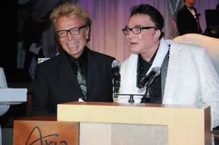 Siegfried & Roys made an appearance at the Las Vegas Philharmonic Diamonds are Forever gala at Aria on Saturday, March 1, 2014.
