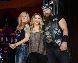 Lita Ford, Audrina Patridge and Zakk Wylde at Rock 'n' Roll Fantasy Camp in Crossroads at House of Blues on Sunday, March 2, 2014, in Mandalay Bay.