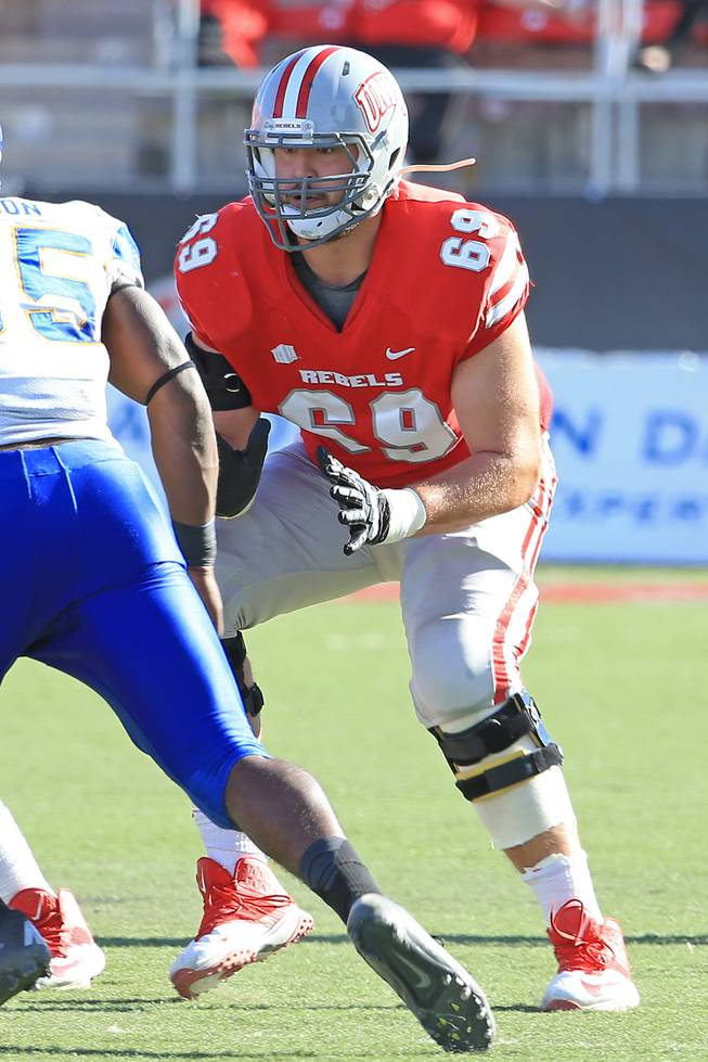 Offensive tackle Brett Boyko is one of the UNLV football team's top returners entering spring practice for the 2014 season.