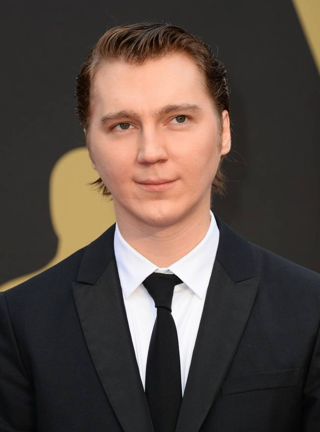 Paul Dano arrives at the Oscars on Sunday, March 2, 2014, at the Dolby Theatre in Los Angeles.  (Photo by Jordan Strauss/Invision/AP)