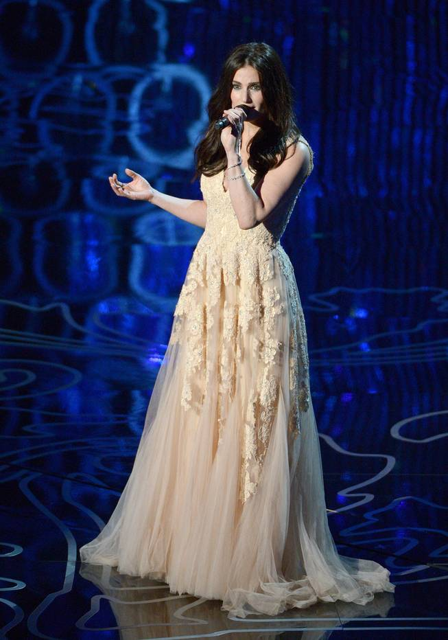 Idina Menzel performs during the Oscars at the Dolby Theater on Sunday, March 2, 2014, in Los Angeles.
