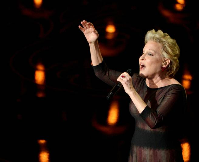 Bette Midler performs during the Oscars at Dolby Theater on Sunday, March 2, 2014, in Los Angeles.