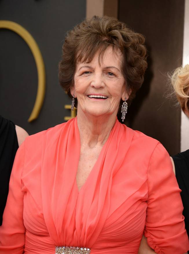 Philomena Lee arrives at the Oscars on Sunday, March 2, 2014, at the Dolby Theatre in Los Angeles.  (Photo by Jordan Strauss/Invision/AP)