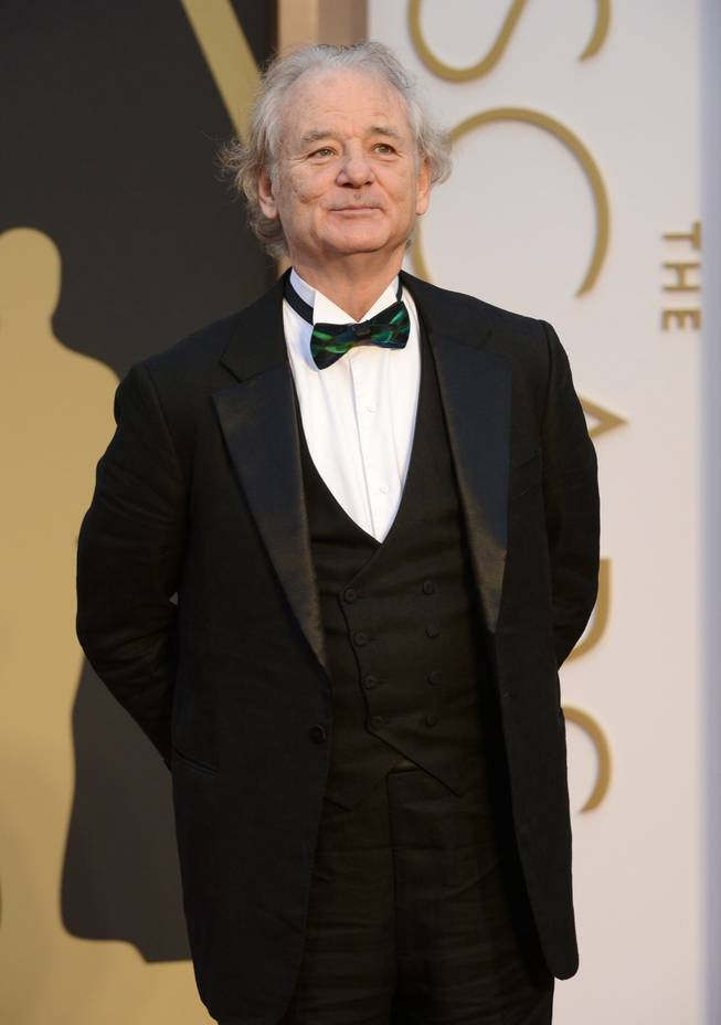Bill Murray arrives at the Oscars on Sunday, March 2, 2014, at the Dolby Theatre in Los Angeles.  (Photo by Jordan Strauss/Invision/AP)