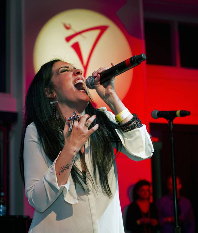 "Stephanie Calvert sings ""Piece of My Heart"" near the end of Las Vegas Weekly's Unscripted Party featuring Stifler in the Havana Room on Tuesday, March 4, 2014, at the Tropicana."