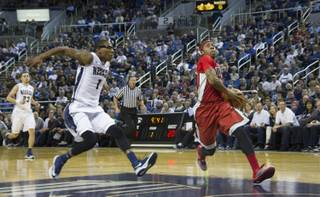 UNLV lost to UNR 76-72 at the Lawlor Events Center in Reno on Saturday, March 8, 2014.