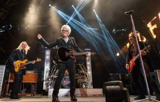 REO Speedwagon headlines a free NASCAR Weekend Race Jam concert at Fremont Street Experience on Saturday, March 8, 2014, in downtown Las Vegas.