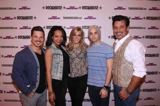 """Rock of Ages"" cast members at the first-anniversary celebration of Rockhouse on Tuesday, March 11, 2014, at the Venetian."