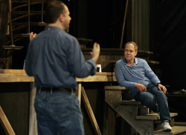 "Aaron Posner and Teller discuss some finer points of co-directing ""The Tempest"" adapted from the play by William Shakespeare on Tuesday, March 11, 2014. The production opens next month at the Smith Center in a tent at Symphony Park."