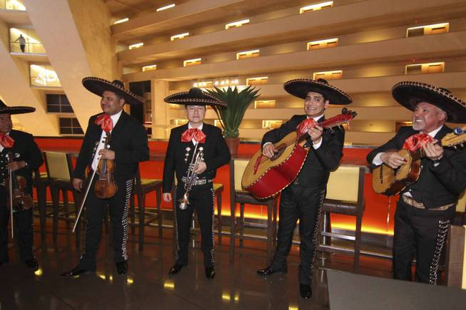 A mariachi group at the Viva Max! benefit dinner for Max Jacobson hosted at Luxor's Tacos & Tequila restaurant Thursday, March 13, 2014.  All proceeds went toward the recovery of Max Jacobson.
