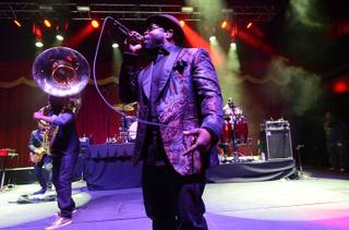 The Roots perform at Brooklyn Bowl on Saturday, March 15, 2014, in the Linq.