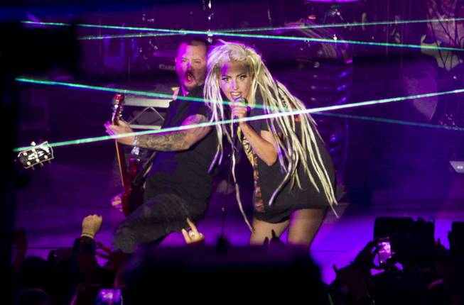 Lady Gaga performs at Stubb's in Austin, Texas, during the South by Southwest Music Festival on Thursday, March 13, 2014.