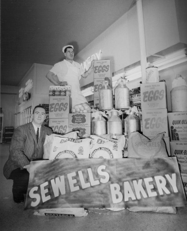 Sewell's Bakery in Reno made and donated the cake for Nevada's centennial celebration in 1964. The cake included 1,152 eggs, 200 pounds of sugar and 600 pounds of icing. It weighed around 1,300 pounds.