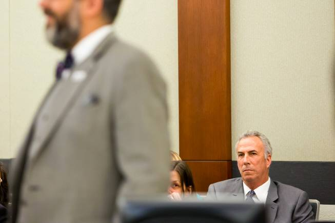 Clark County District Attorney Steven Wolfson sits in during a civil hearing between Donald Thompson, co-owner of Prince and Princess Pet Shop LLC, and the Animal Foundation at the Regional Justice Center, Wednesday, March 19, 2014. .