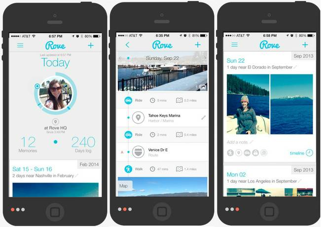 The phone app Rove gives users the ability to write personal journals and either keep them private or share them on social media.