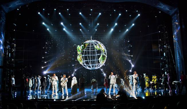 The One Night for ONE DROP finale during the dress rehearsal from the Michael Jackson ONE Theatre at Mandalay Bay on Thursday, March 20, 2014.