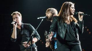 Charles Kelley, Dave Haywood and Hillary Scott of Lady Antebellum at Mandalay Bay Events Center on Friday, March 21, 2014, in Las Vegas.