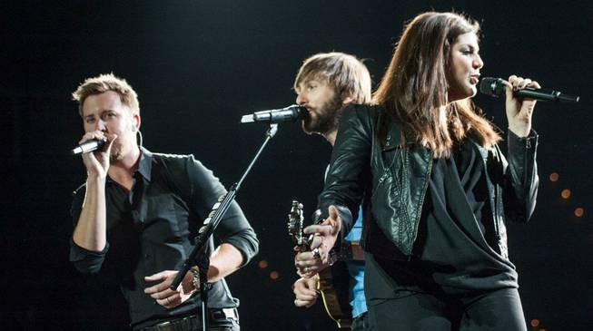 Charles Kelley, Dave Haywood and Hillary Scott of Lady Antebellum ...