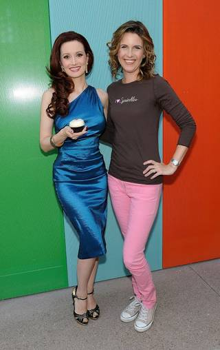 Holly Madison and owner Candace Nelson at Sprinkles in the Linq on Friday, March 21, 2014, at center Strip.