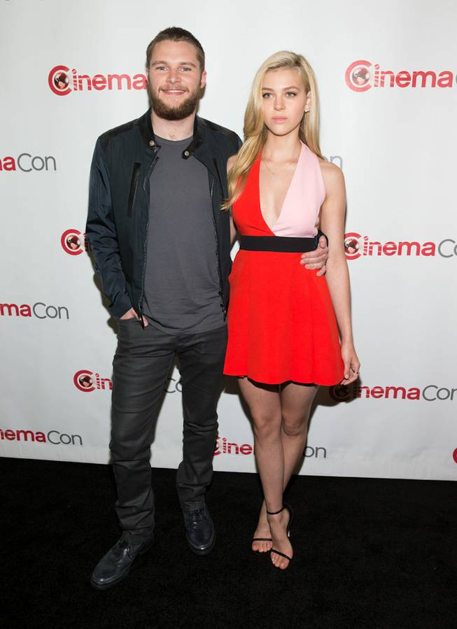 Jack Reynor and Nicola Peltz arrive at the opening night presentation and party hosted by Paramount Pictures for 2014 CinemaCon at the Colosseum on Monday, March 24, 2014, in Caesars Palace.