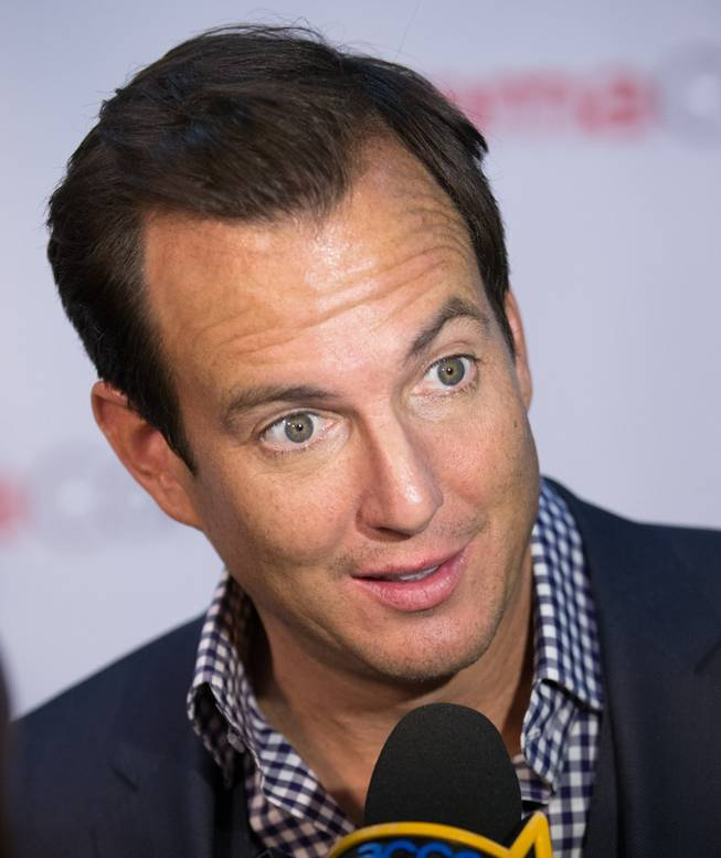 Will Arnett arrives at the opening night presentation and party hosted by Paramount Pictures for 2014 CinemaCon at the Colosseum on Monday, March 24, 2014, in Caesars Palace.