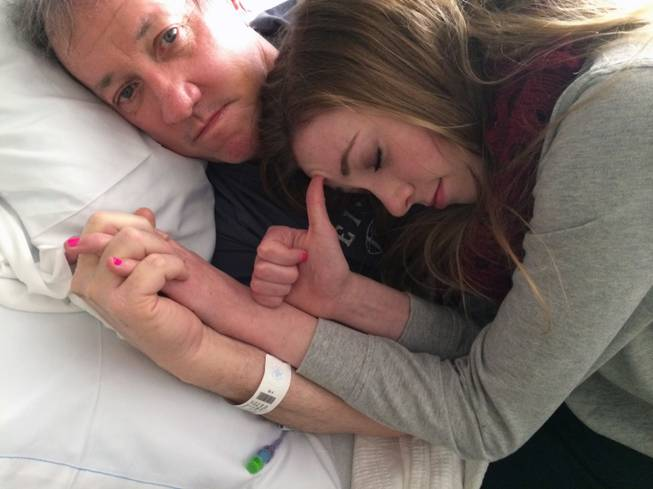 This recent photo provided by Jill Kelly shows Jim Kelly with his daughter, Camryn. NFL Hall of Fame quarterback Jim Kelly is expected to undergo surgery with the return of his oral cancer.
