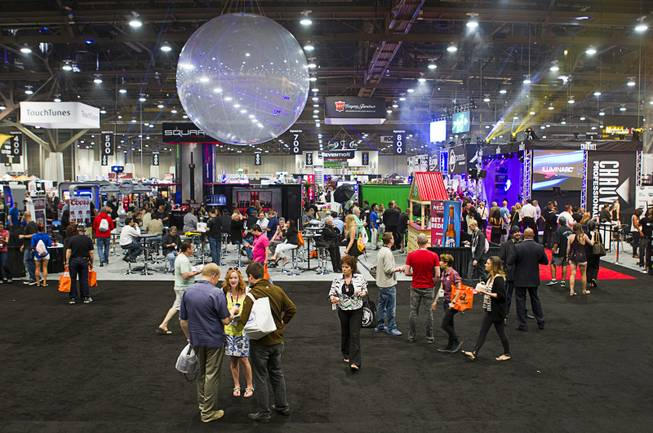 A view of the trade show floor during the Nightclub & Bar Convention and Trade Show at the Las Vegas Convention Center Wednesday March 26, 2014.