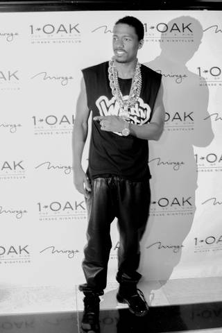 Nick Cannon spins at 1 OAK on Tuesday, March 25, 2014, at the Mirage.