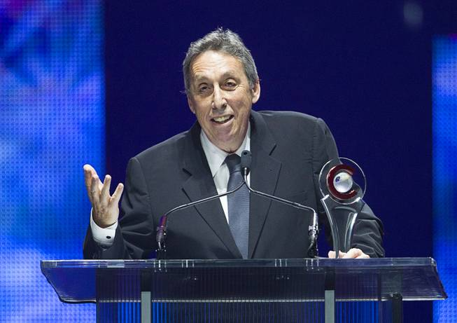 Movie producer and director Ivan Reitman accepts a Lifetime Achievement Award at the Big Screen Achievement Awards during CinemaCon, the official convention of the National Association of Theatre Owners, at Caesars Palace Thursday, March 27, 2014.