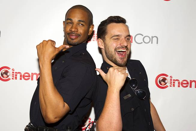 Actors Damon Wayans Jr. and Jake Johnson arrive for a 20th Century Fox presentation during CinemaCon, the official convention of the National Association of Theatre Owners, at Caesars Palace Thursday, March 27, 2014.