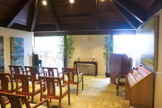 The chapel inside the Nathan Adelson Hospice, the largest and oldest non-profit hospice in Southern Nevada Thursday, March 27, 2014.