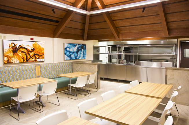The dinning area inside the Nathan Adelson Hospice, the largest and oldest non-profit hospice in Southern Nevada Thursday, March 27, 2014.
