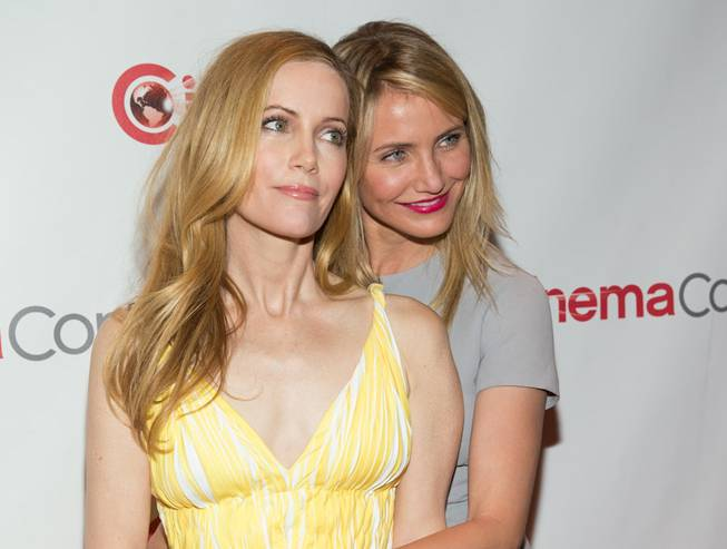 Leslie Mann and Cameron Diaz attend the 20th Century Fox presentation at 2014 CinemaCon on Thursday, March 27, 2014, in Caesars Palace.