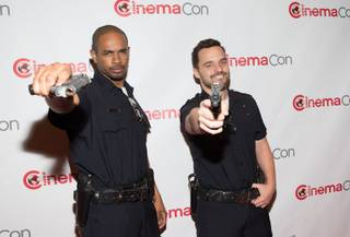 Damon Wayans Jr. and Jake Johnson attend the 20th Century Fox presentation at 2014 CinemaCon on Thursday, March 27, 2014, in Caesars Palace.