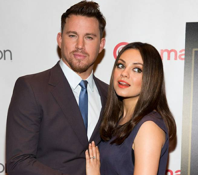 Channing Tatum and Mila Kunis attend the Warner Bros. presentation at 2014 CinemaCon on Thursday, March 27, 2014, in Caesars Palace.