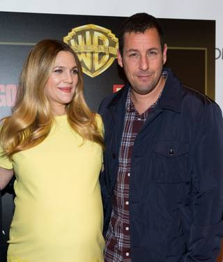 Drew Barrymore and Adam Sandler attend the Warner Bros. presentation at 2014 CinemaCon on Thursday, March 27, 2014, in Caesars Palace.