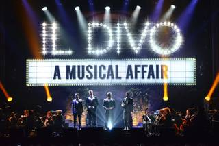 Urs Buhler, David Miller, Carlos Marin and Sebastien Izambard of Il Divo perform Saturday, March 29, 2014, at Mandalay Bay Events Center.