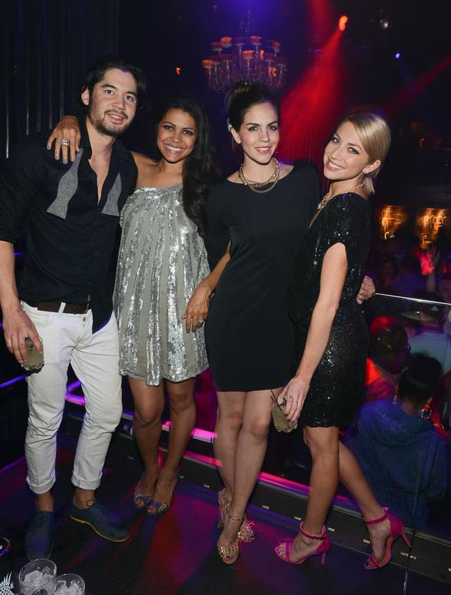 Stassi Schroeder, right, with Jeremy Davison, Jennifer Bush and Katie Maloney, hosts at Body English on Saturday, March 29, 2014, in the Hard Rock Hotel.