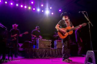 Willie Nelson performs during his concert at Lake Las Vegas March 31, 2014.