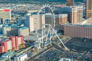 An aerial view of the High Roller at the Linq on Monday, March 31, 2014, on the Strip.