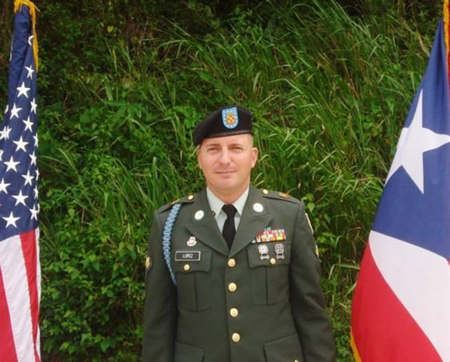 This undated photo provided by Glidden Lopez shows Army Spc. Ivan Lopez. Authorities said Lopez killed three people and wounded 16 others in a shooting at Fort Hood, Texas, on Wednesday, April 2, 2014, before killing himself.